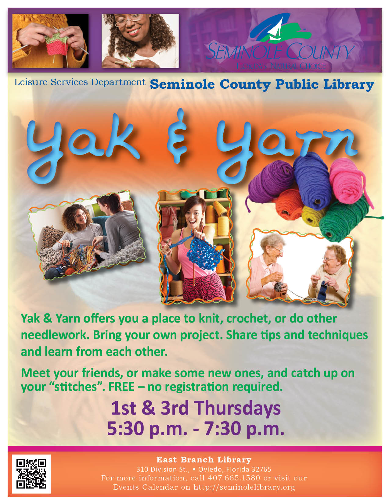 Yak & Yarn @ East Branch Library (Oviedo)