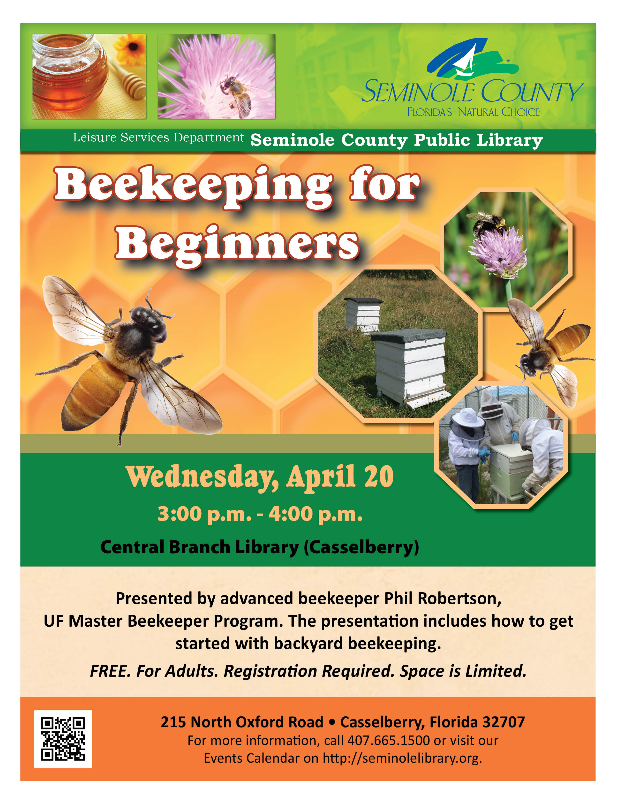 Beekeeping for beginners central branch library casselberry seminole county - Beekeeping beginners small business ...