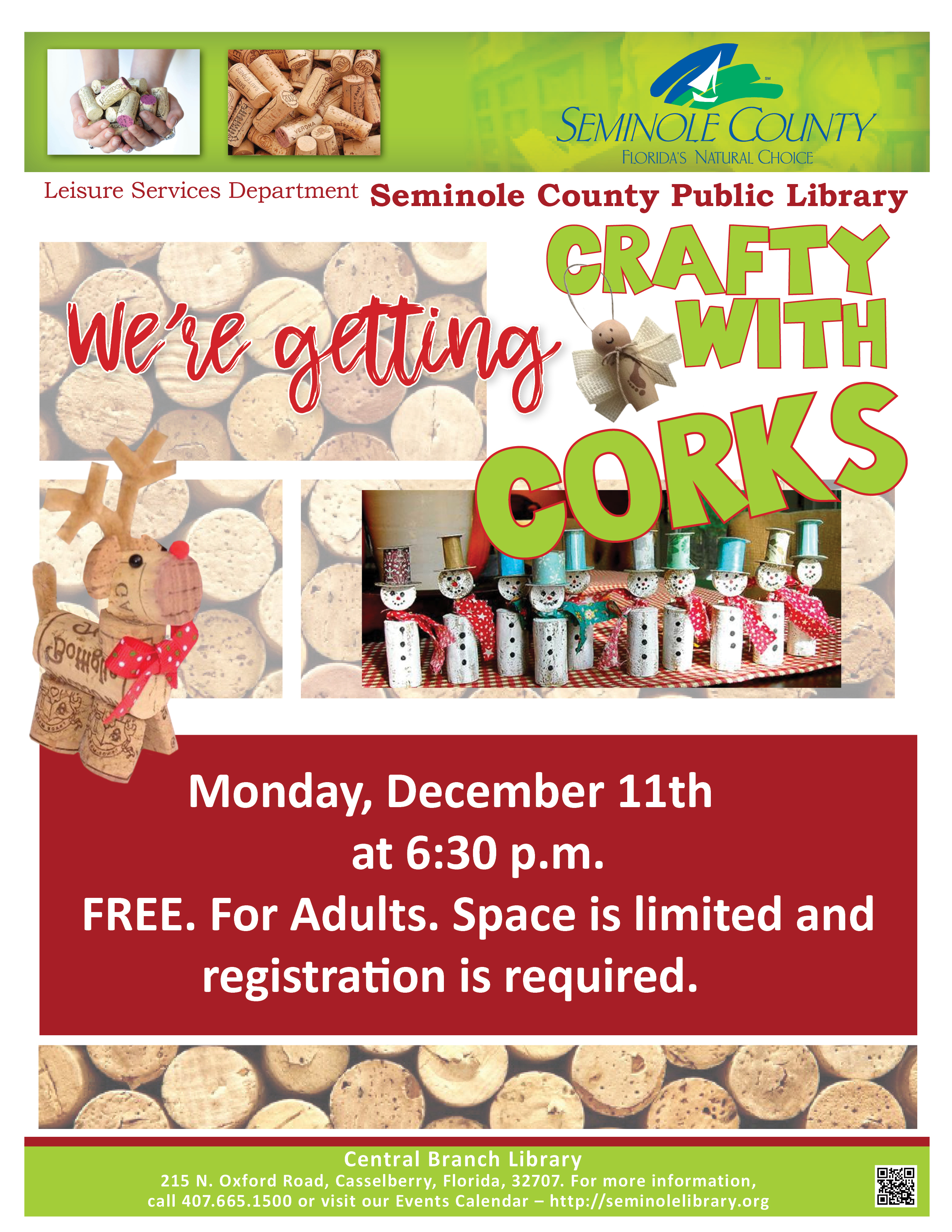 Cork Crafts @ Central Branch Library (Casselberry)