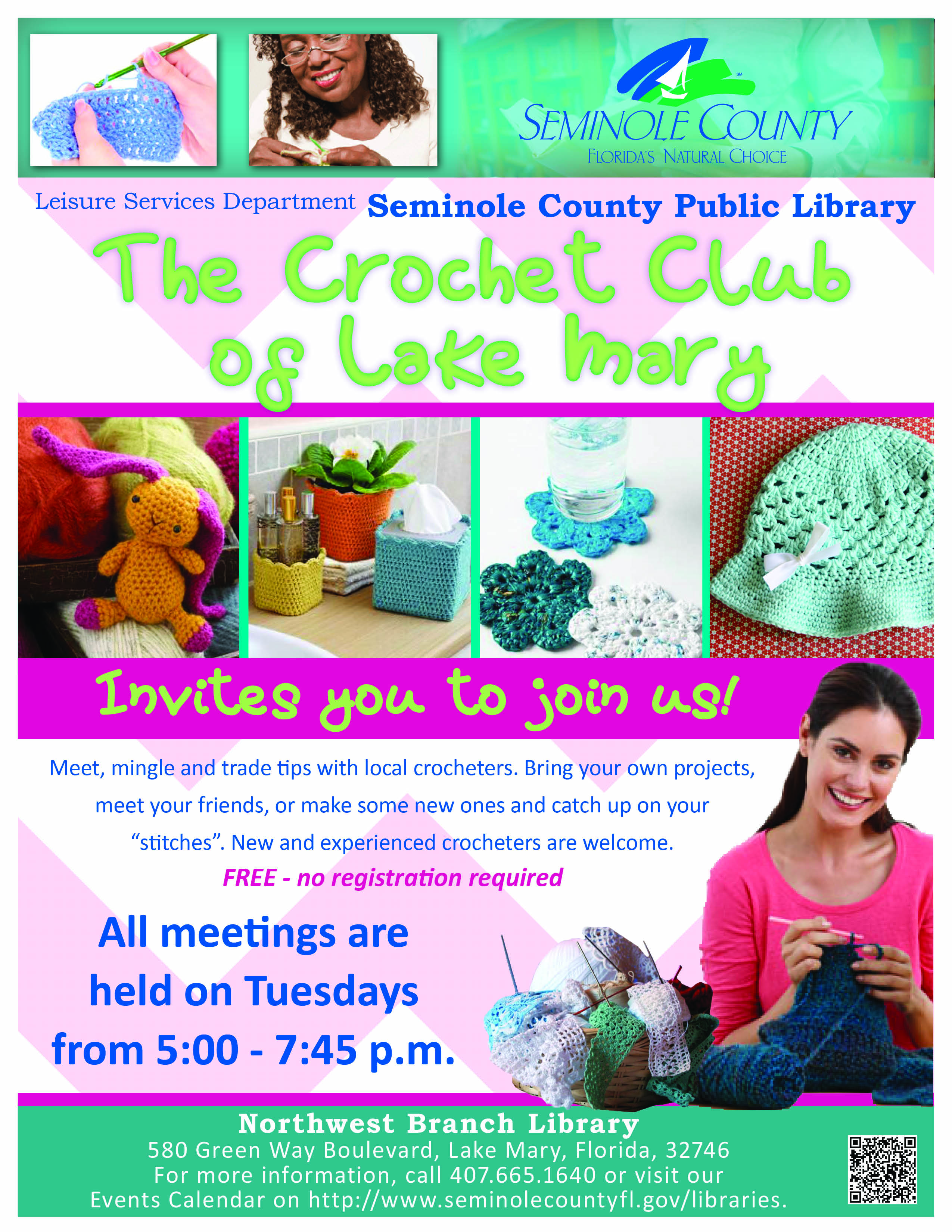 Crochet Club @ Northwest Branch Library (Lake Mary)