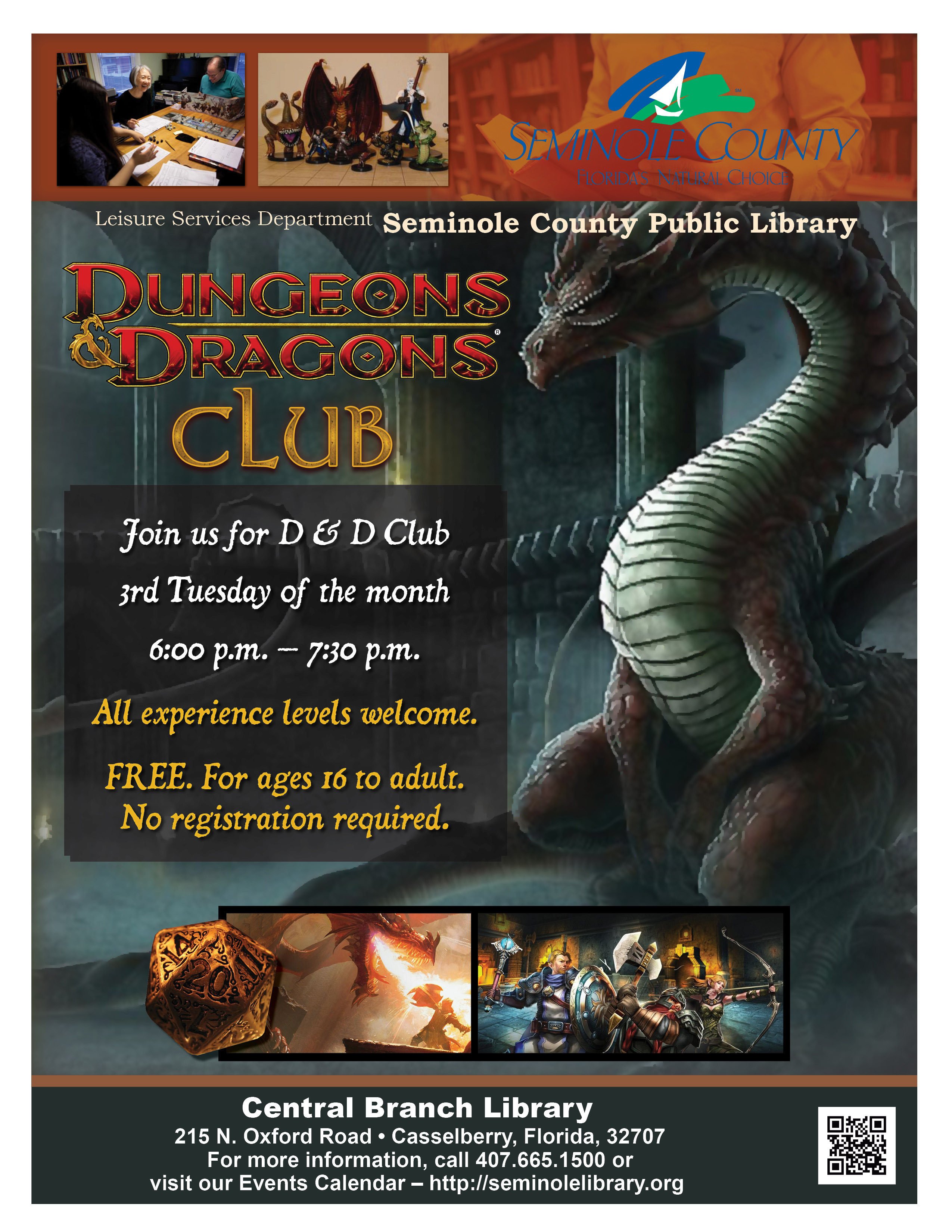 Dungeons & Dragons Club @ Central Branch Library (Casselberry)