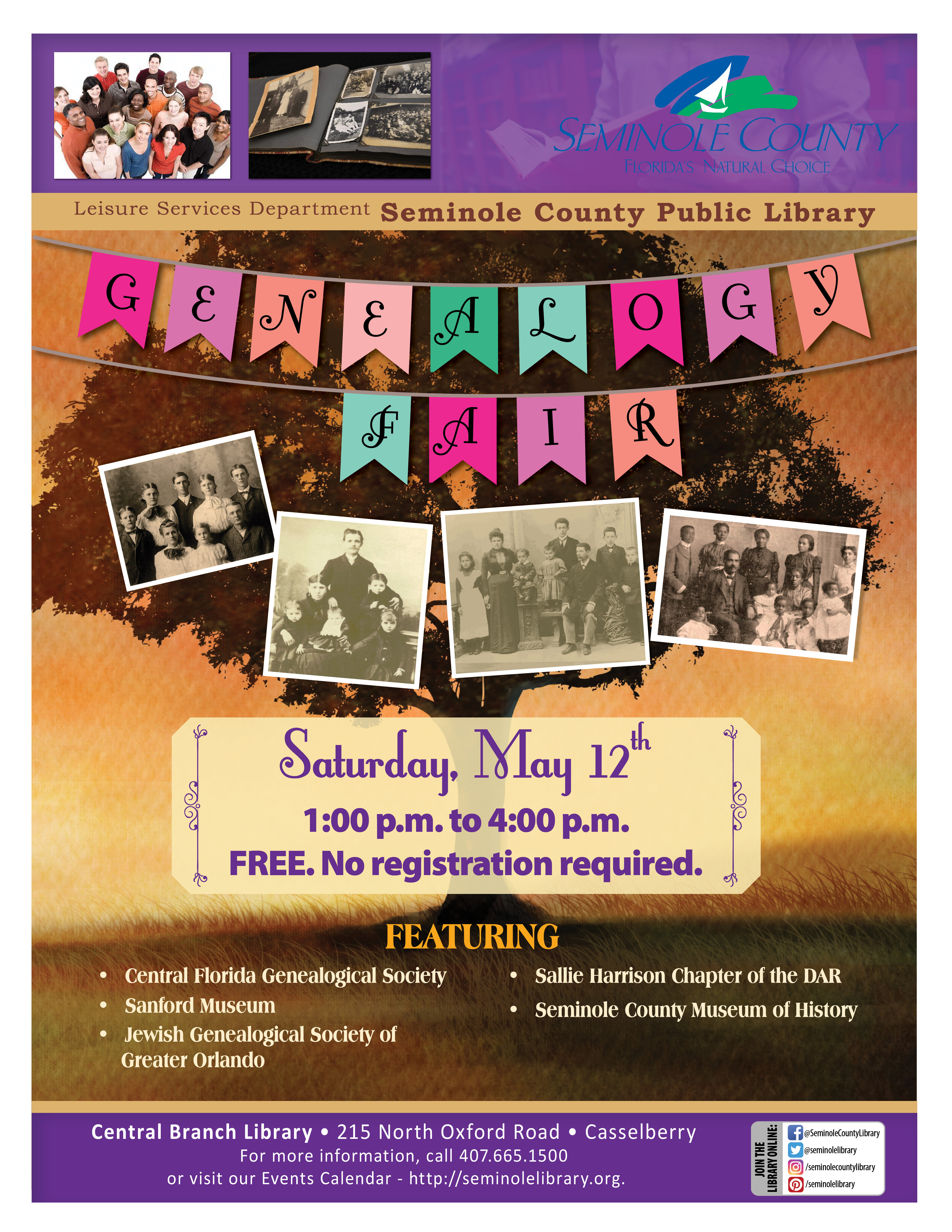 Genealogy Fair @ Central Branch Library (Casselberry)