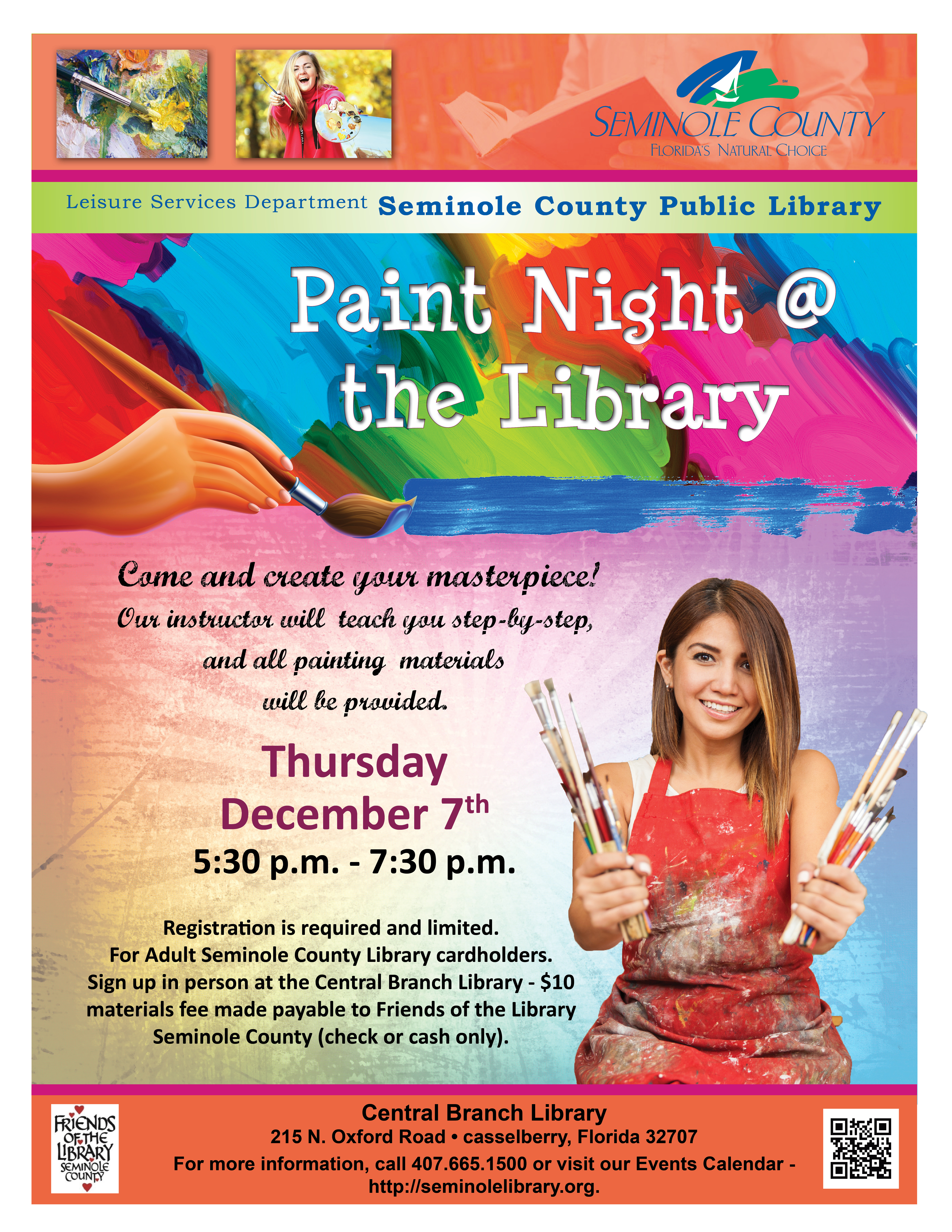Paint Night @ Central Branch Library (Casselberry)