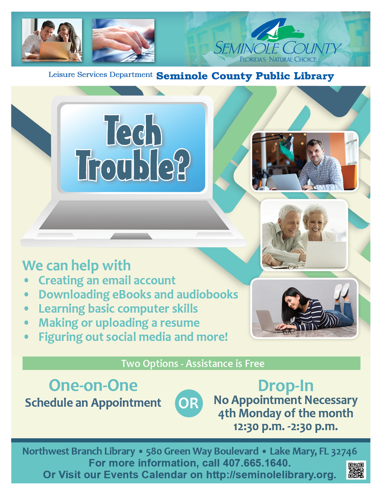 Tech Trouble @ Northwest Branch Library (Lake Mary)