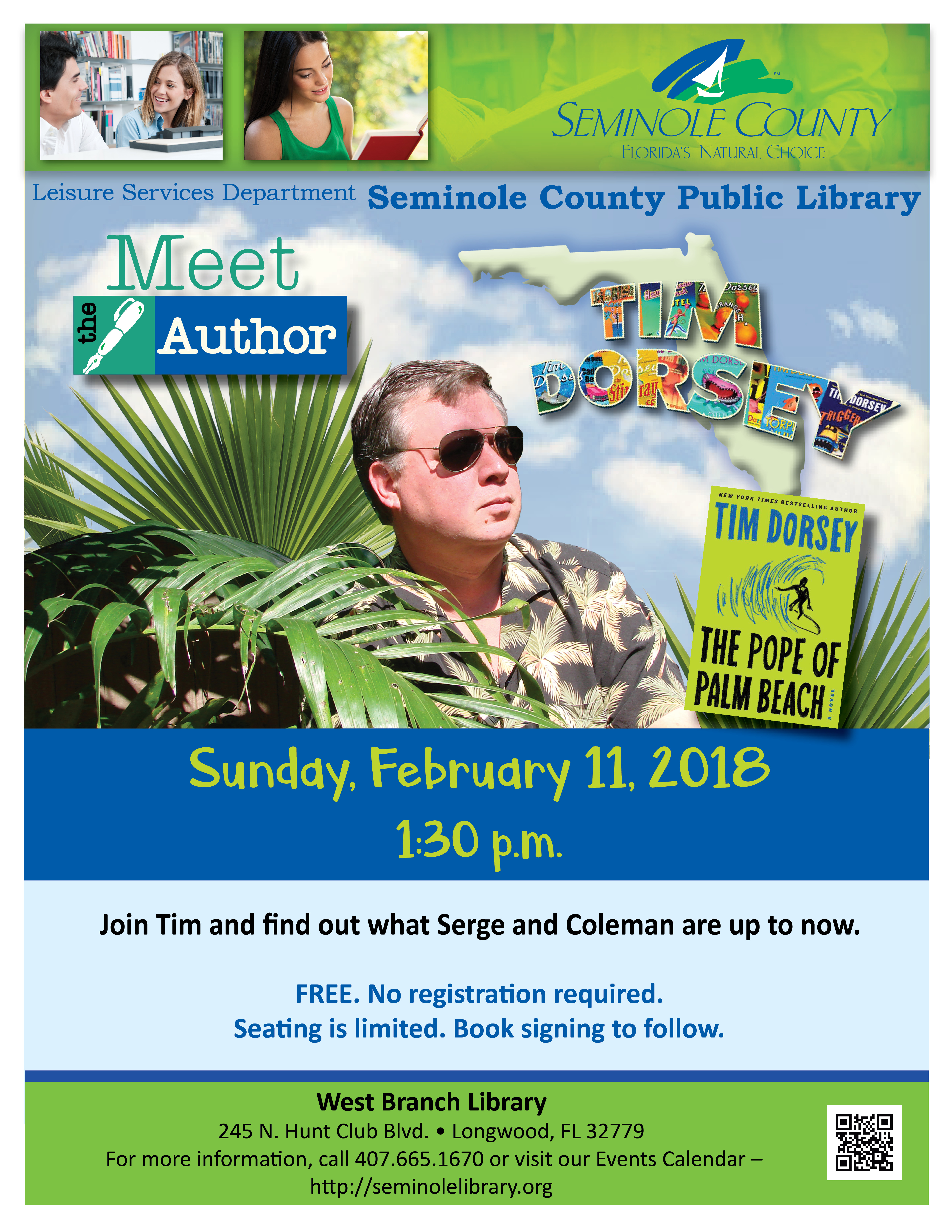 Meet the Author @ West Branch Library (Longwood/Wekiva)