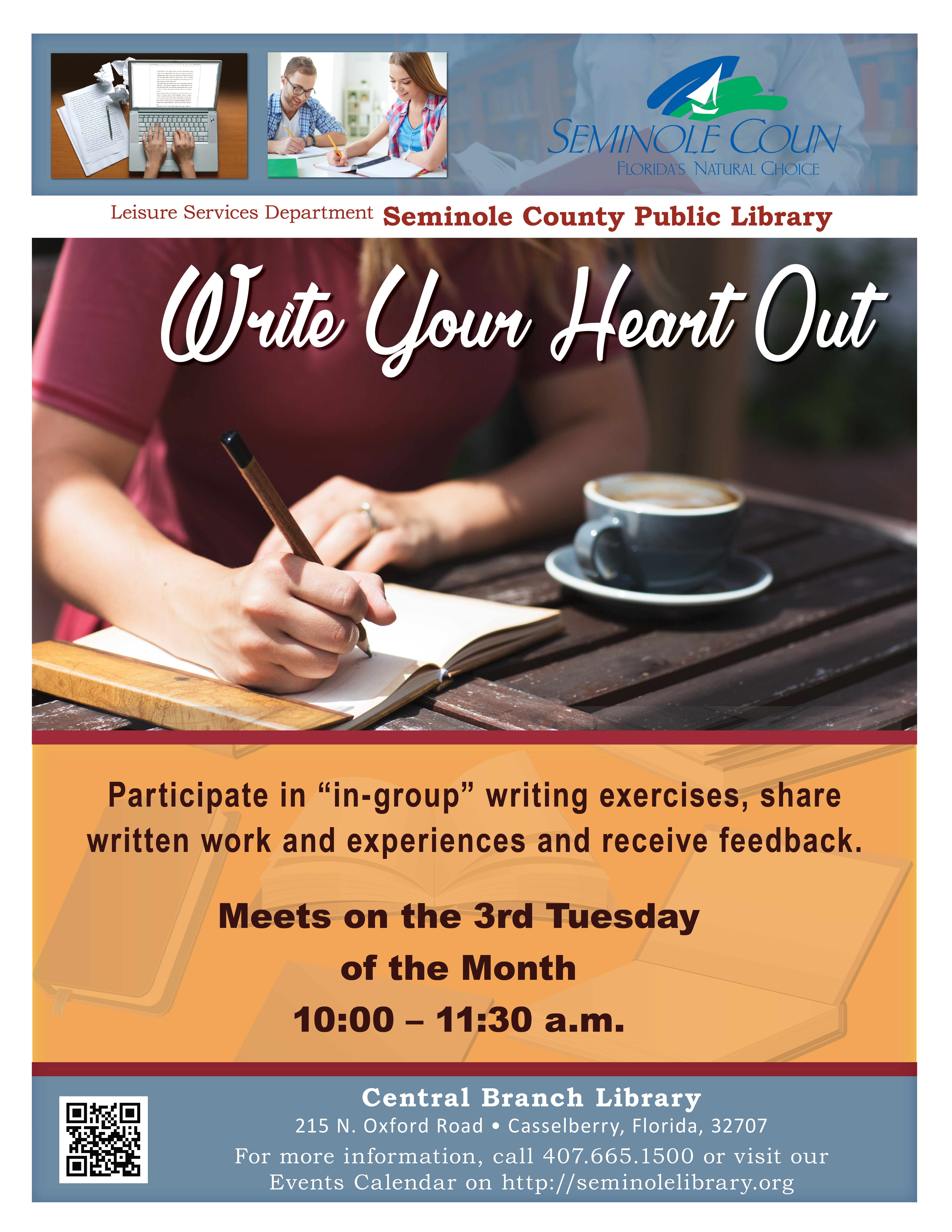 Write Your Heart Out @ Central Branch Library (Casselberry)