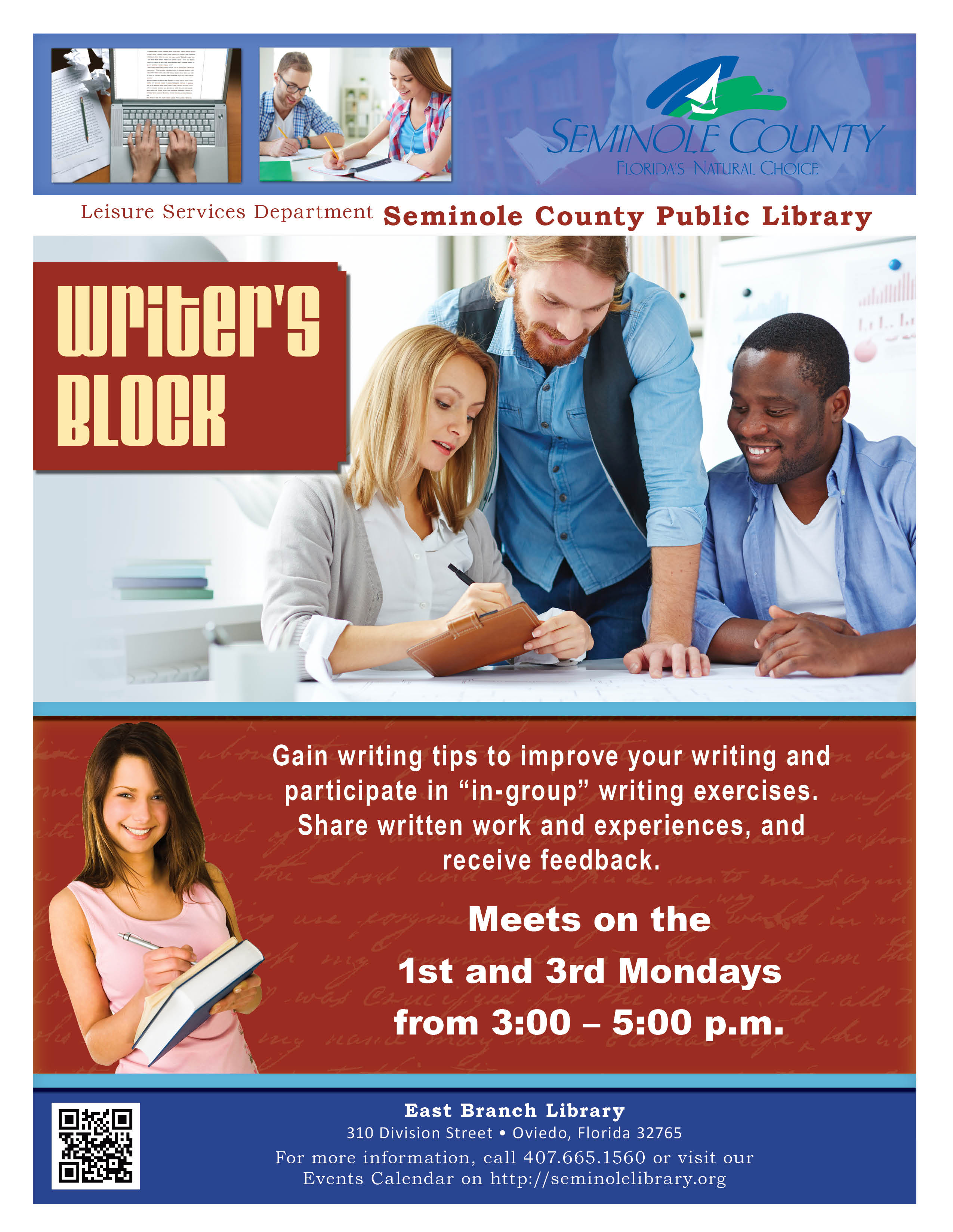 Writer's Block @ East Branch Library (Oviedo)