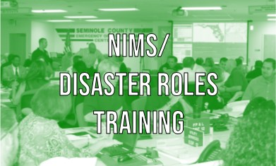 NIMS/DISASTER ROLES TRAINING