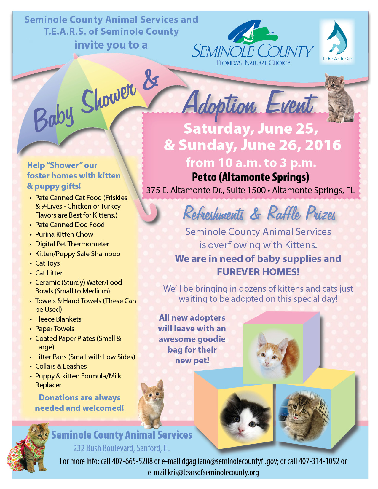 Baby Showers On Saturday Or Sunday ~ Kitten baby shower adoption event at petco altamonte