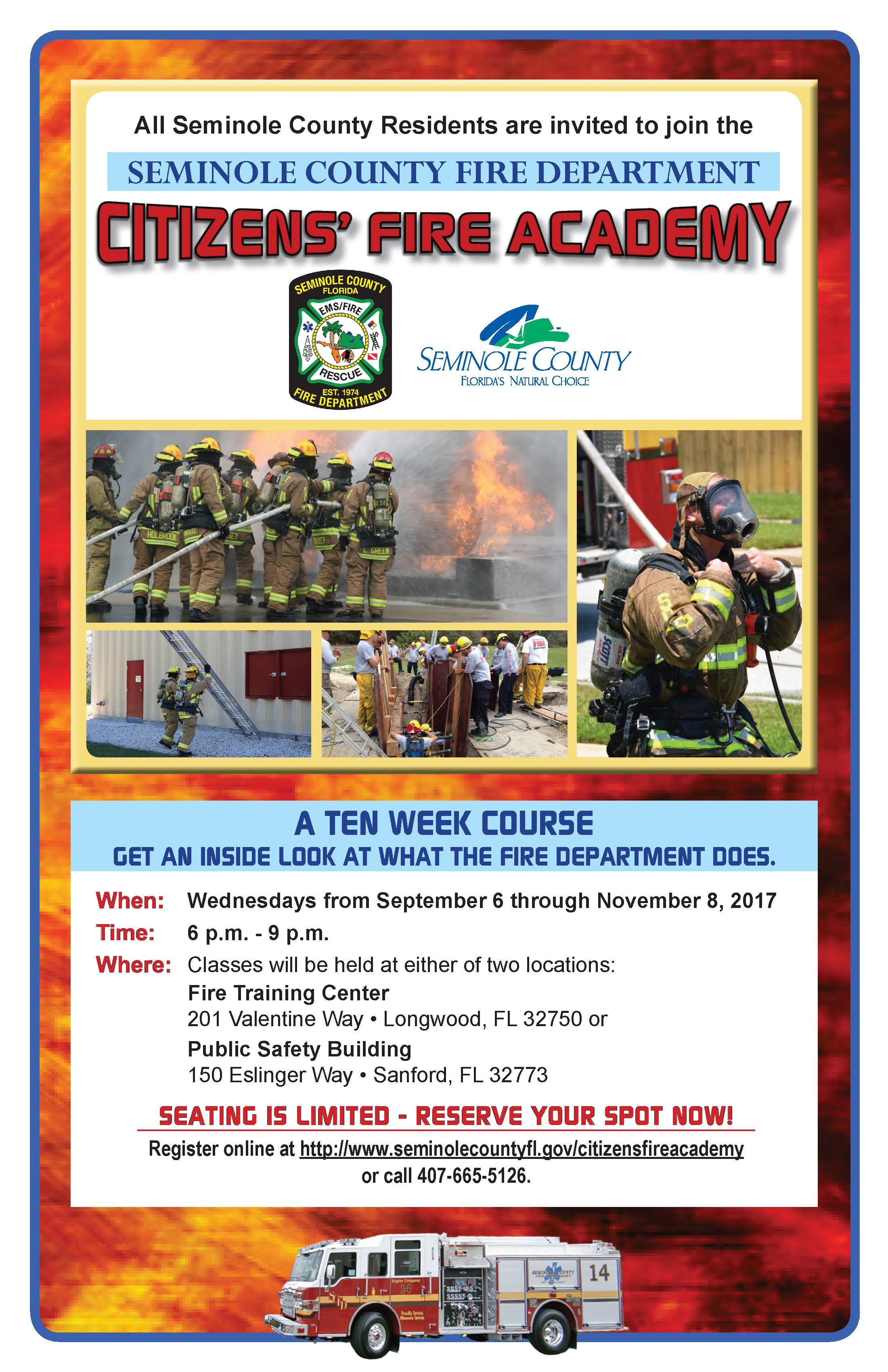 SCFD Citizens Fire Academy 2017 News Image