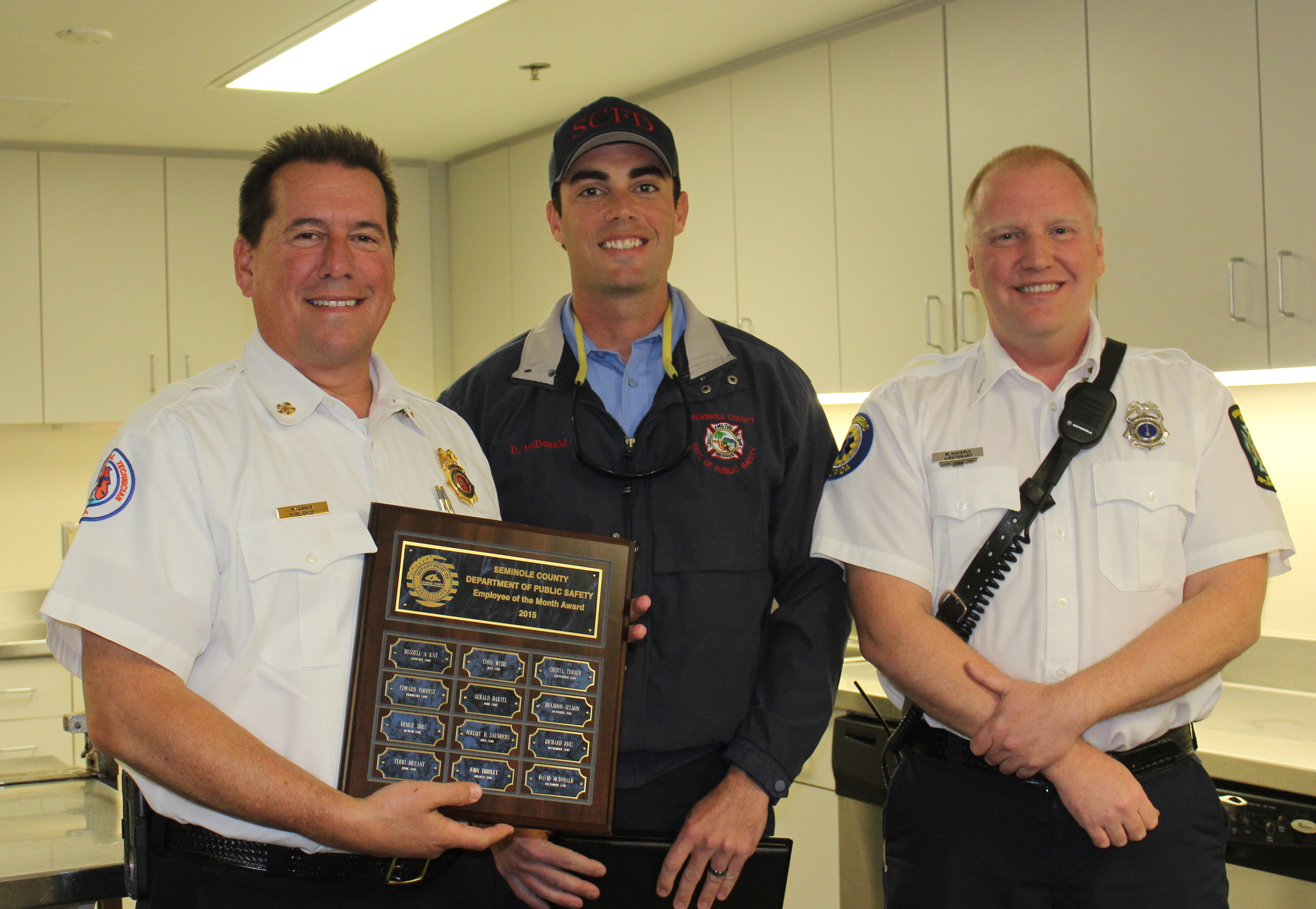 Congratulations to Firefighter/Paramedic Dave McDonald for being selected as December 2015's Employee of the Month! News Image