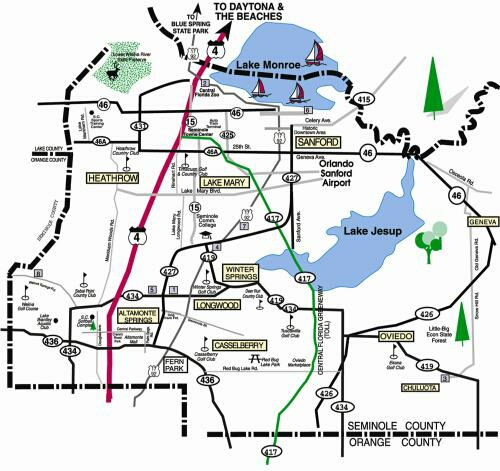 Orlando Metro Map.Location And Maps