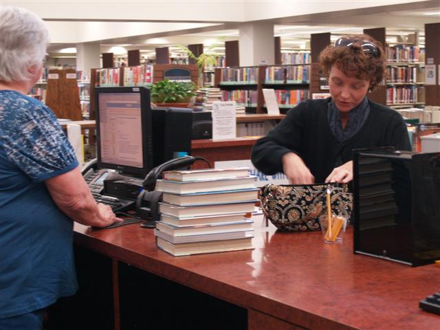 Paying Fines at Circulation Desk