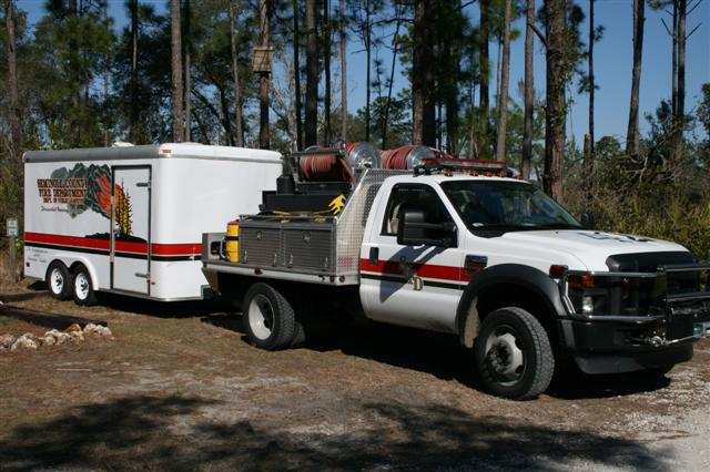 Brush Truck and Prescribed Fire Trailor