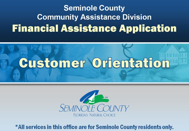 Financial Assistance Orientation and Application   Seminole