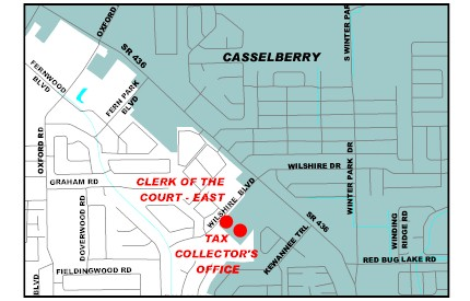 Map location of Tax Cellector's Office - Casselberry