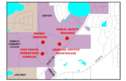 Map location of Animal Services