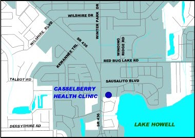 Map location of Casselberry Health Clinic