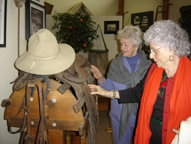 Visitors viewing an exhibit