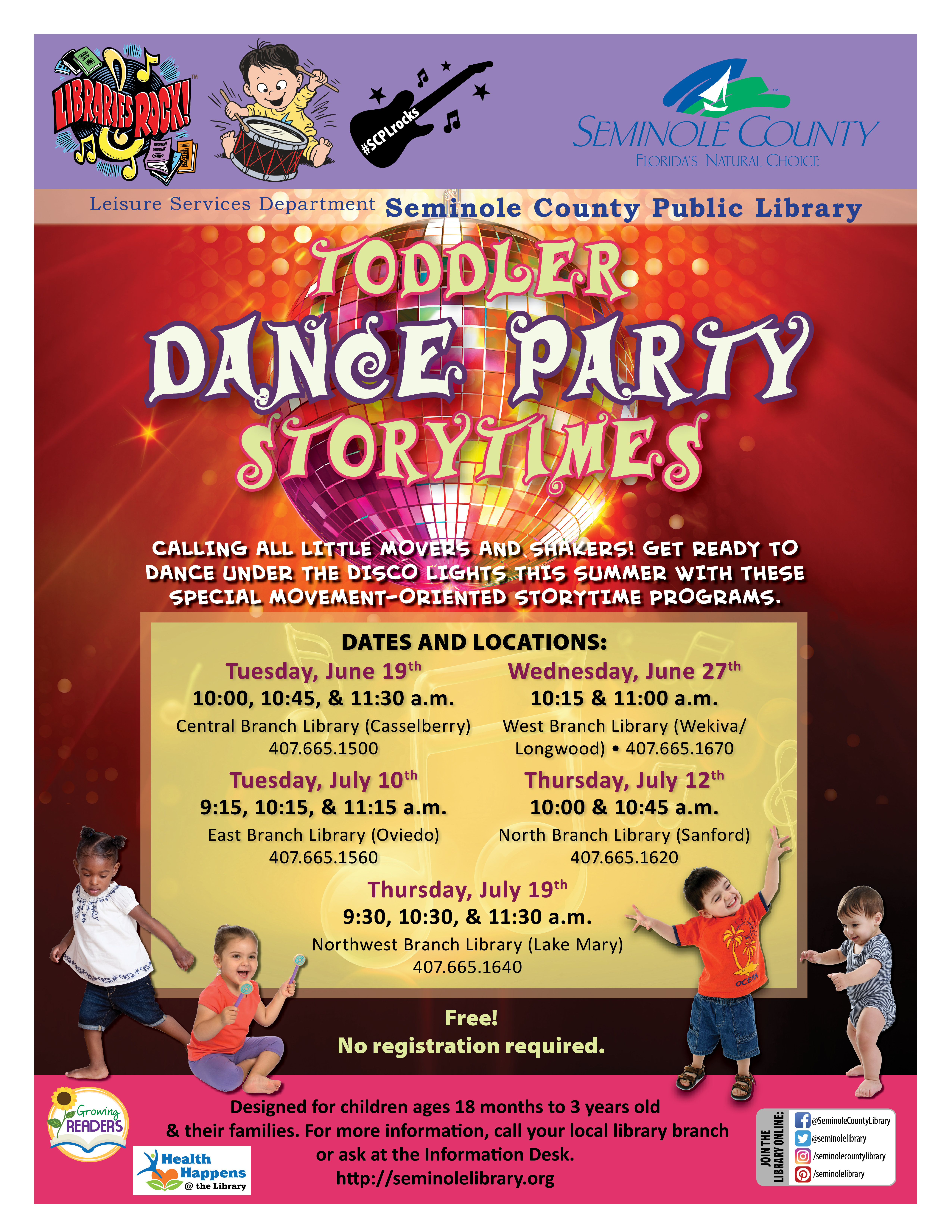 Toddler Dance Party Storytimes