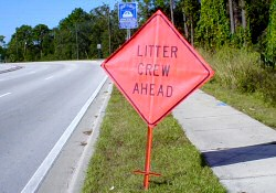 Adopt-A-Road Litter Crew Sign