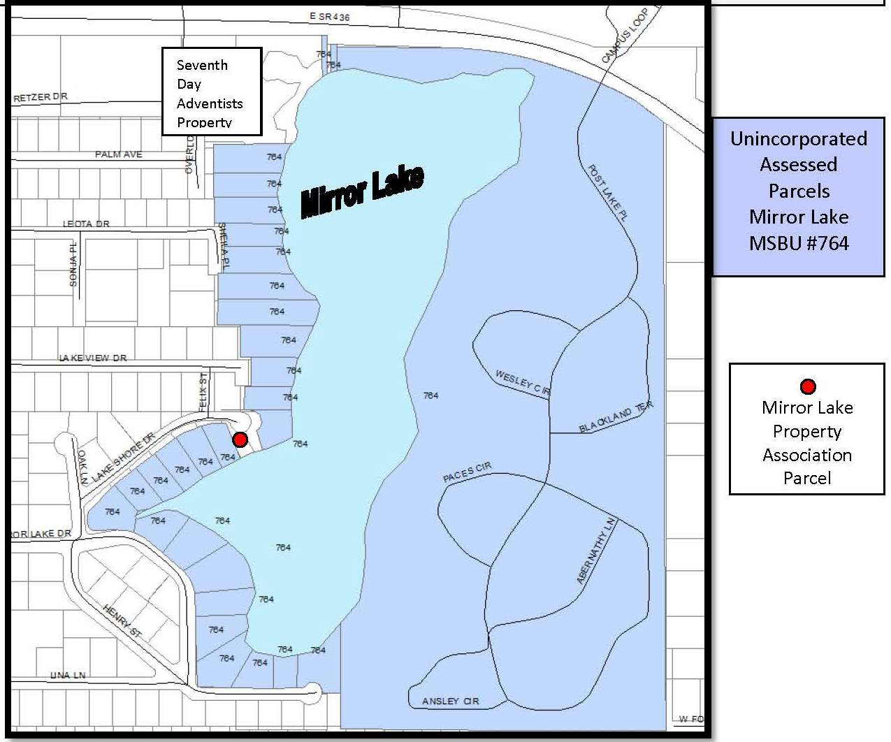 Mirror Lake Map