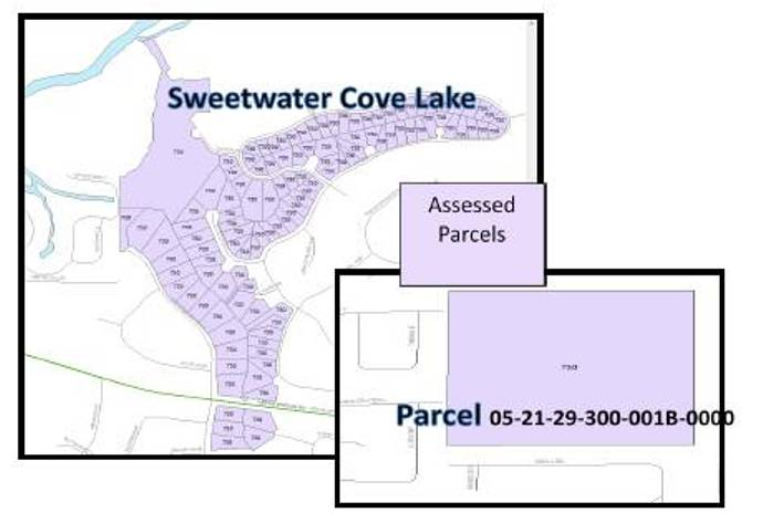 sweetwater cove lake gis map