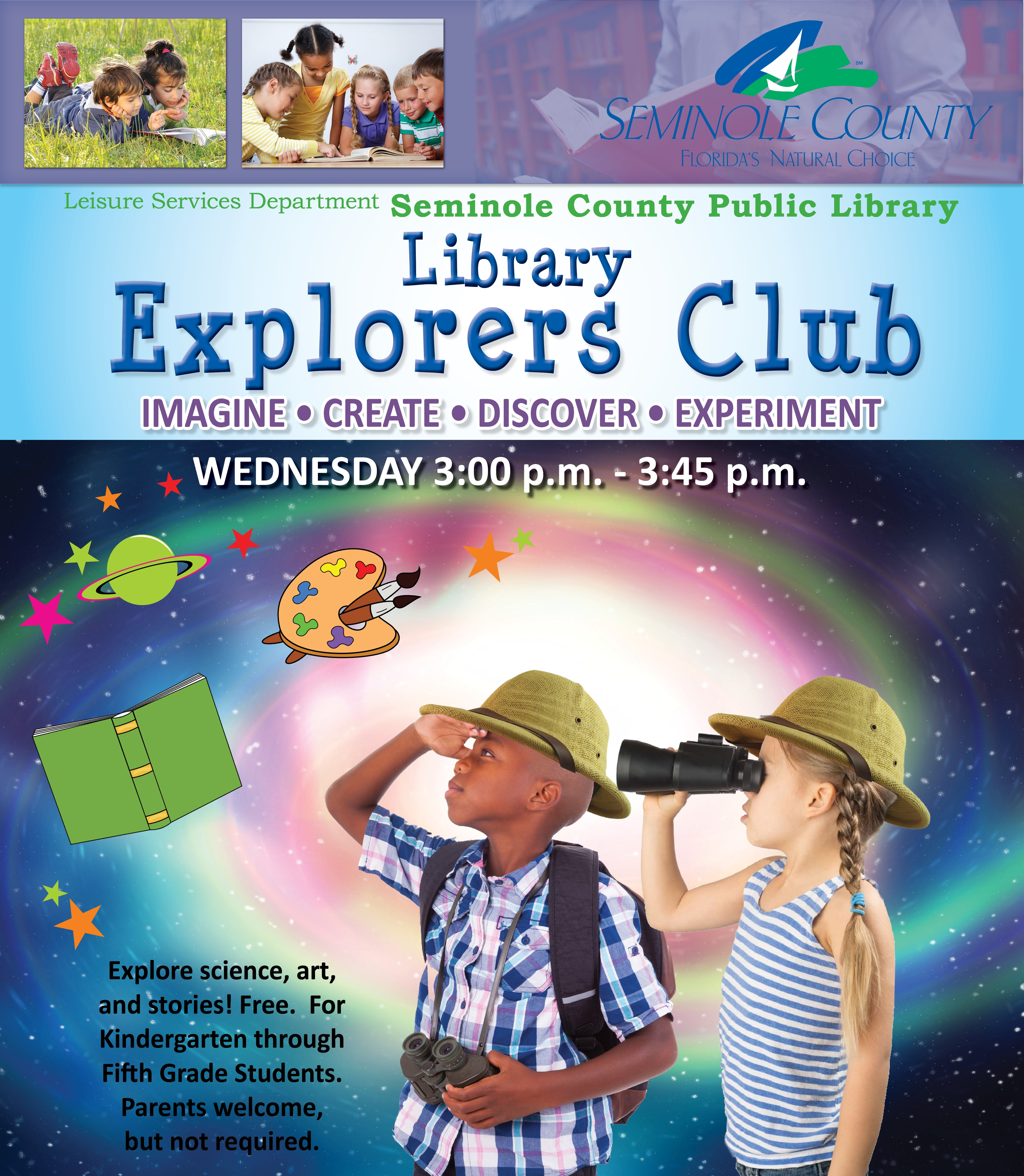 Explorers Club at the library @ Oviedo library | Oviedo | Florida | United States