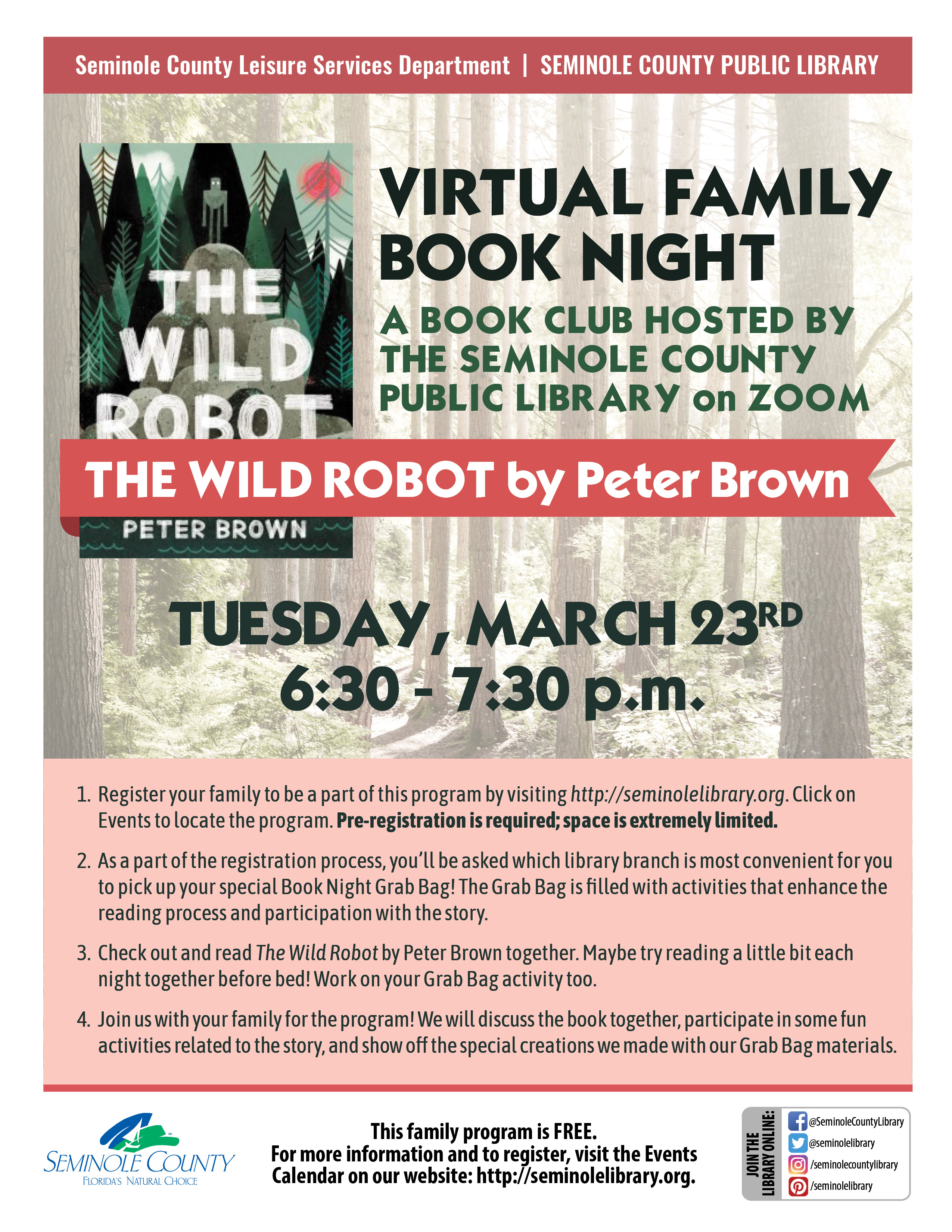 Family Book Night - The Wild Robot