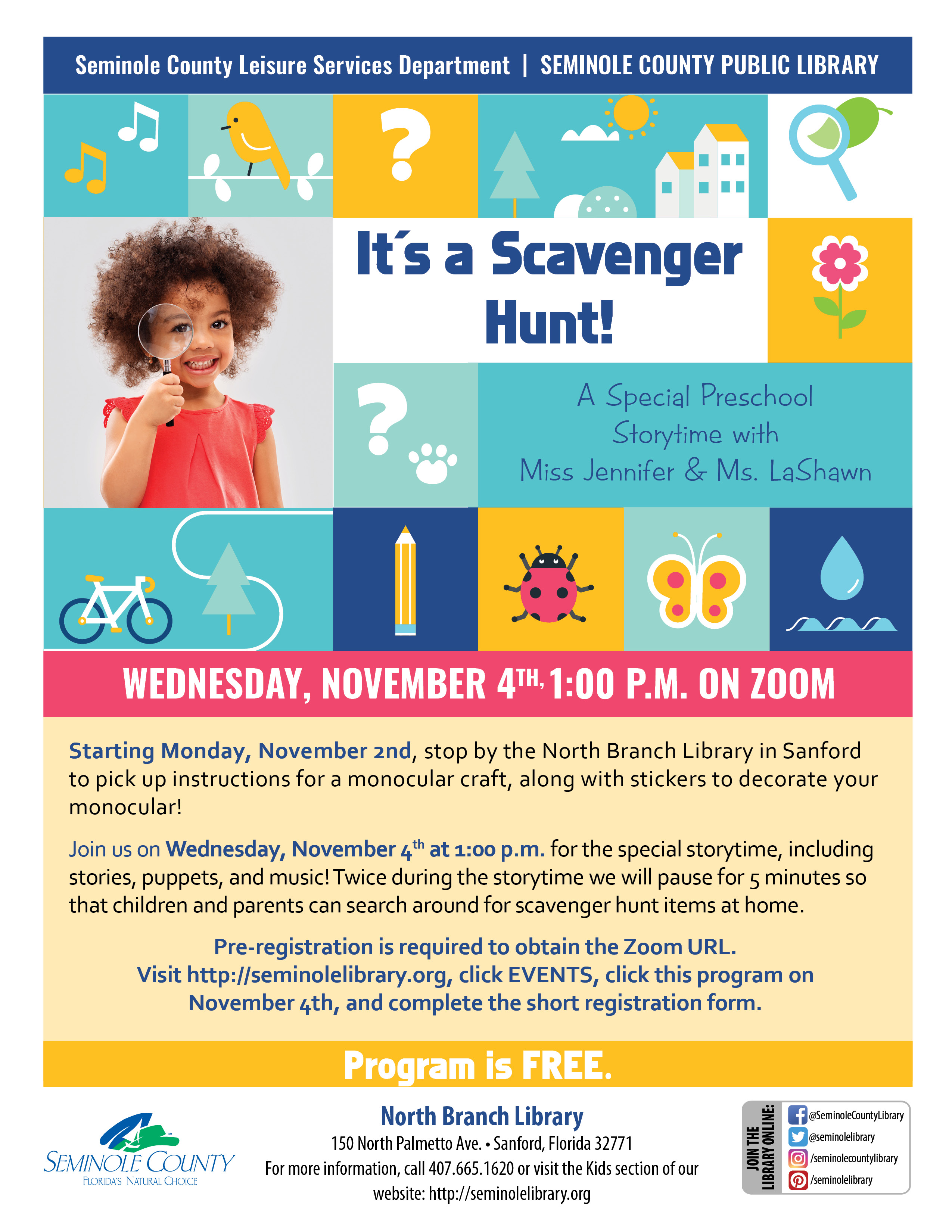 It's a Scavenger Hunt Preschool Storytime