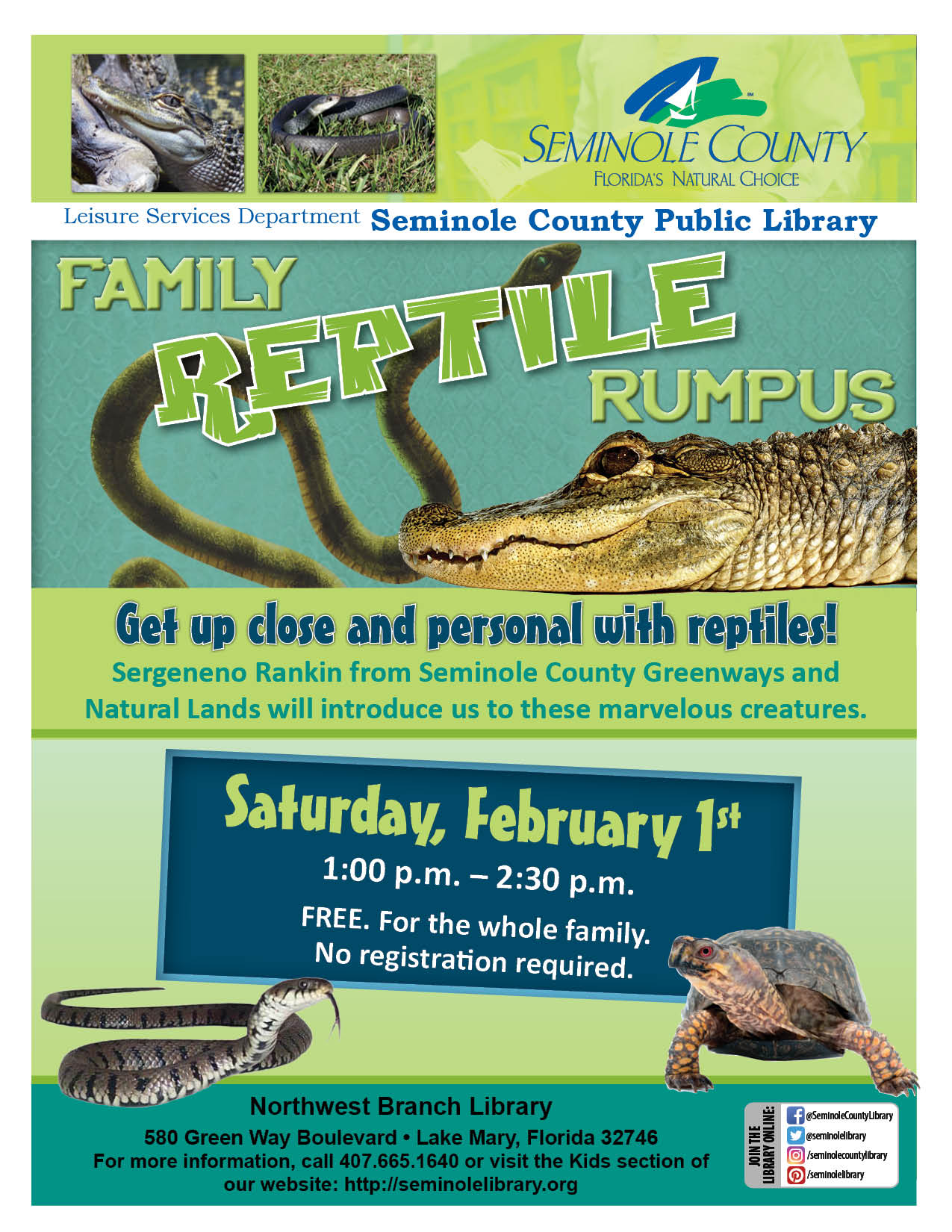 Northwest Branch Library Family Reptile Rumpus
