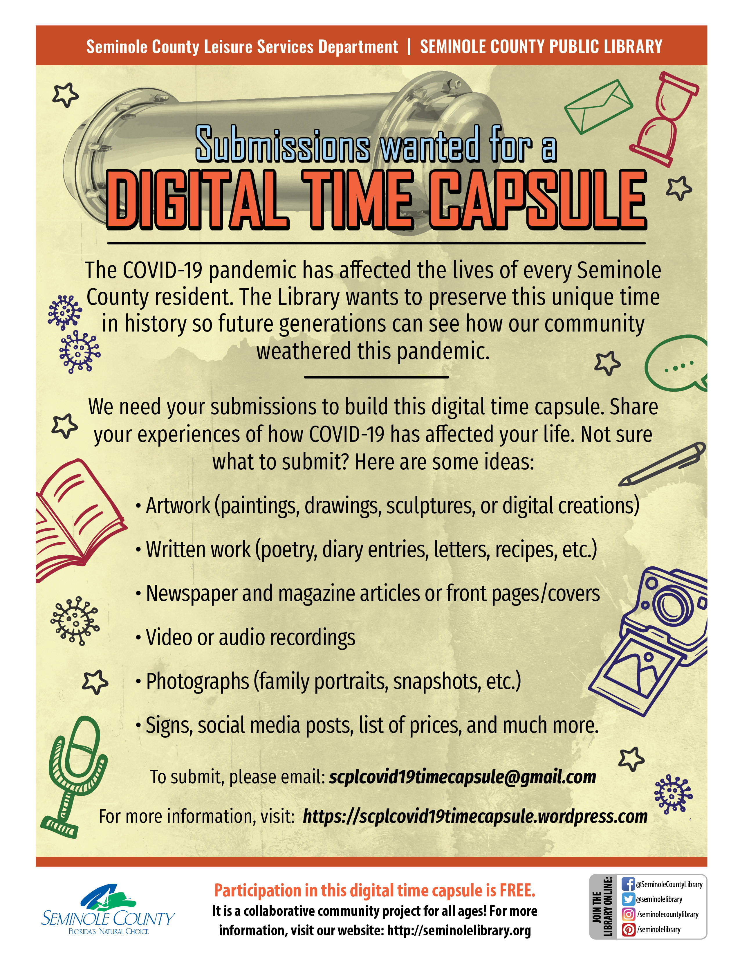 Submissios wanted for a Digital Time Capsule
