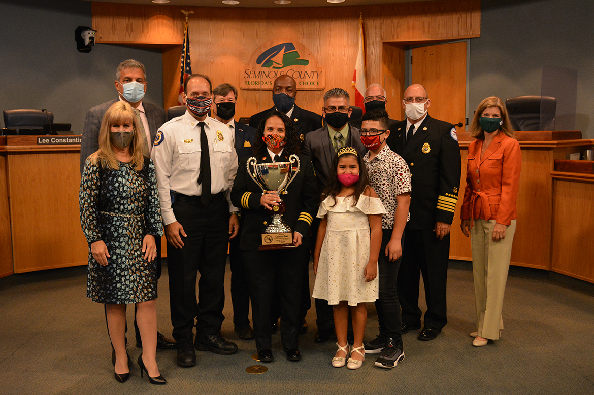 Fire Marshal of the Year for 2020 Award Presentation Christina Diaz